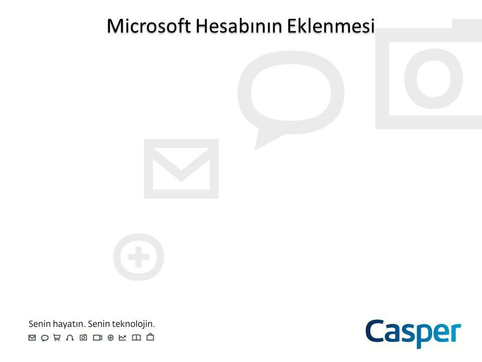 Microsoft Hesabının Eklenmesi