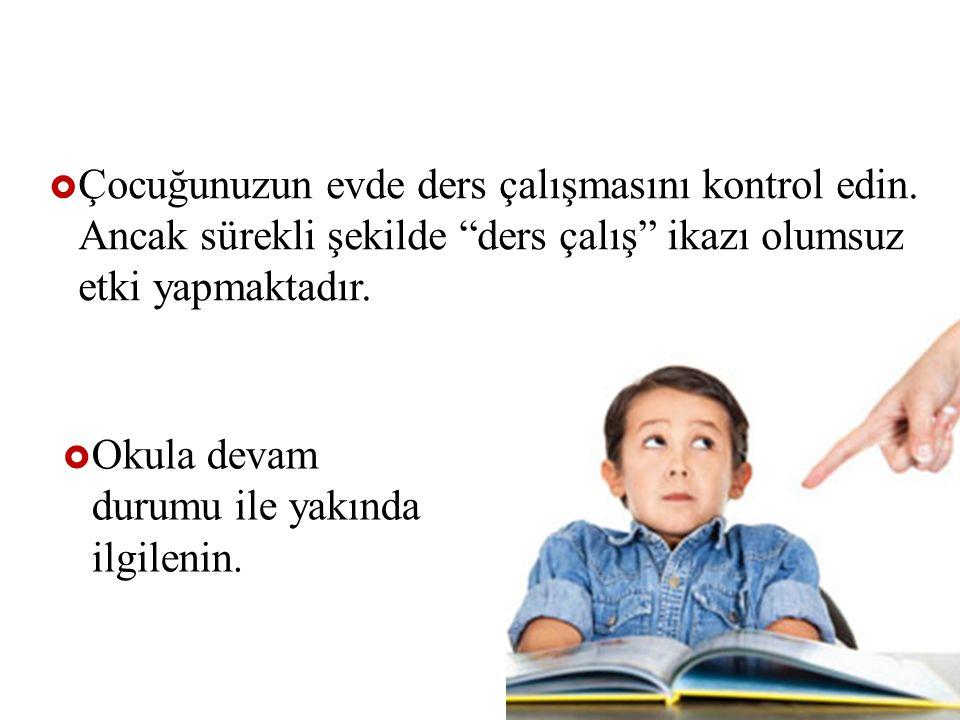 Çocuğunuzun evde ders çalışmasını kontrol edin