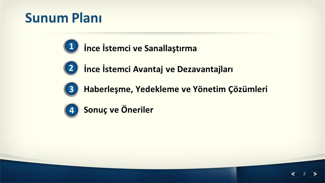 Sunum Planı 1 İnce İstemci ve Sanallaştırma 2