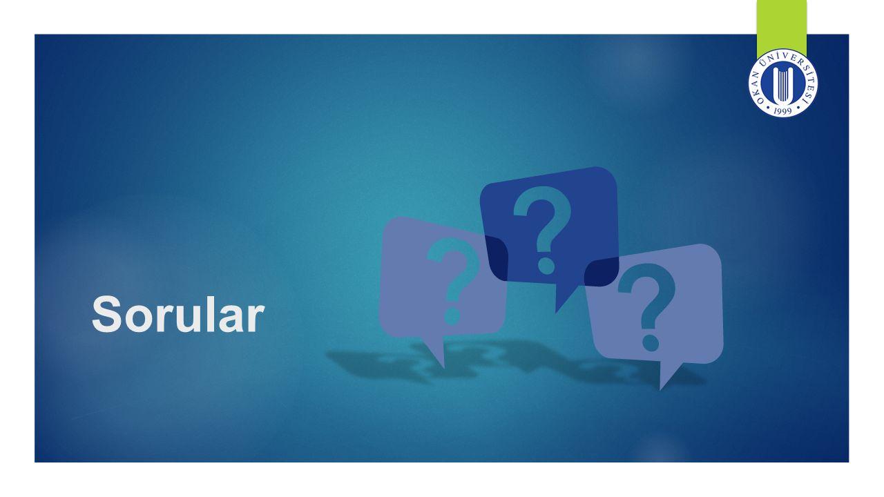 Sorular Sunum hakkında sorusu olanlardan sorularını bekliyorum.