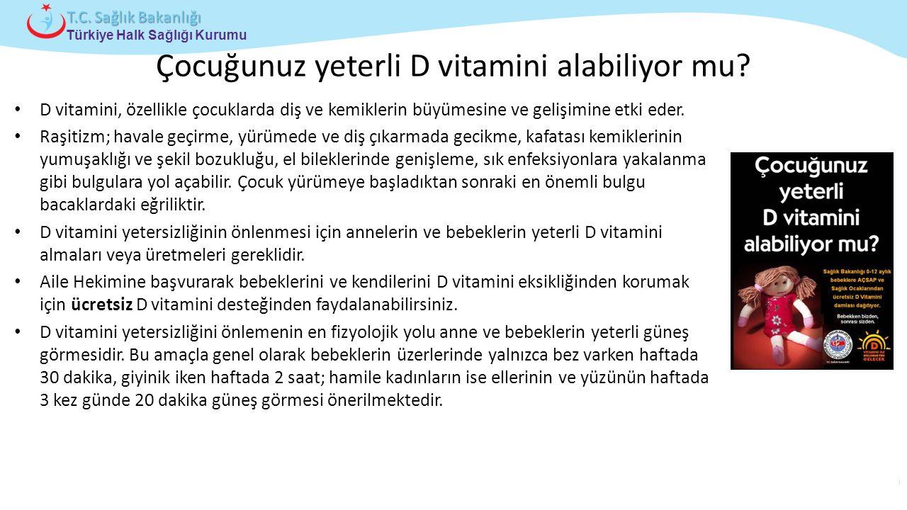 Çocuğunuz yeterli D vitamini alabiliyor mu
