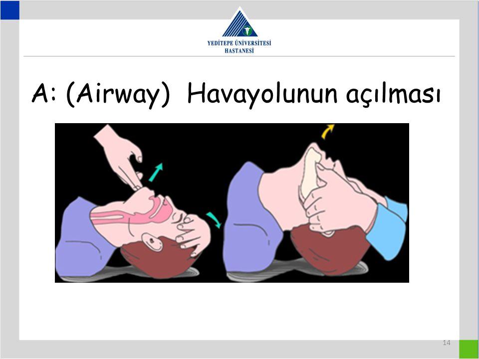 A: (Airway) Havayolunun açılması