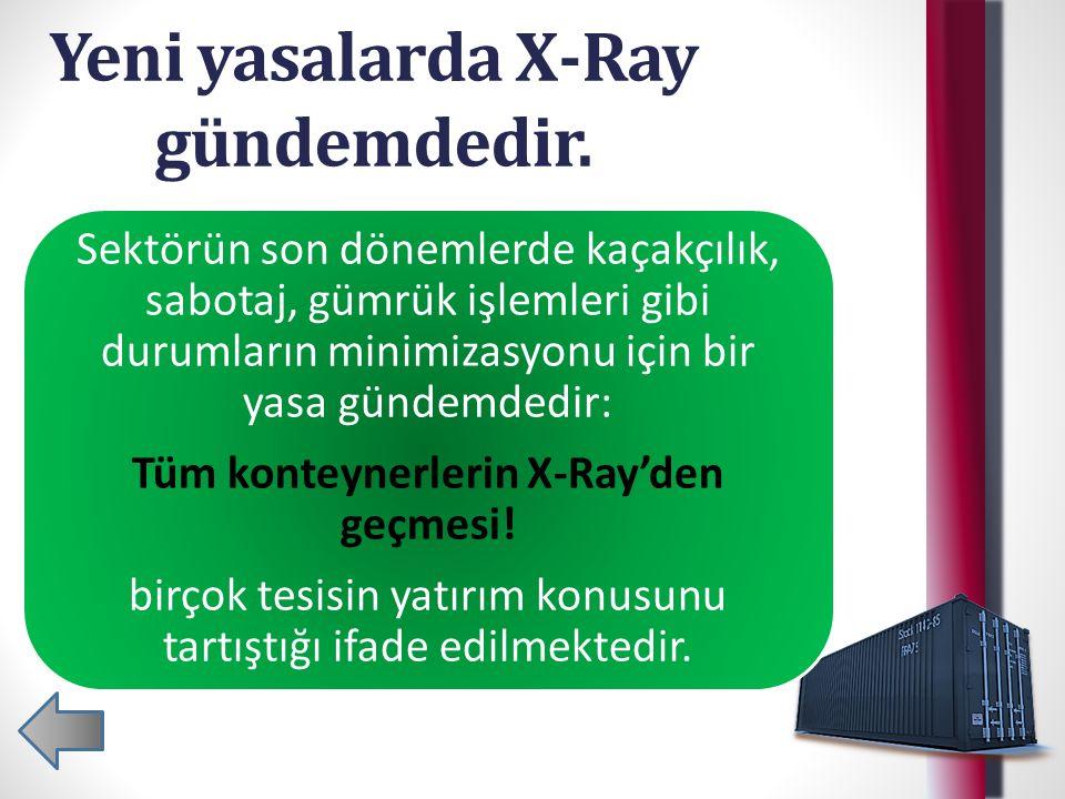 Yeni yasalarda X-Ray gündemdedir.