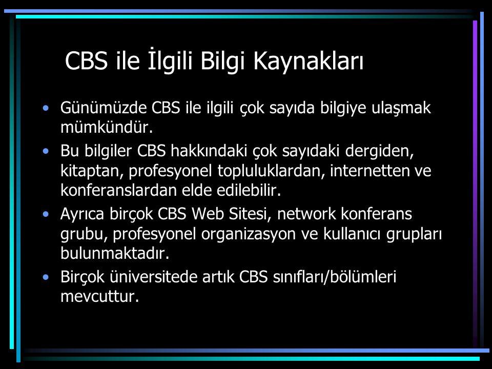 CBS ile İlgili Bilgi Kaynakları
