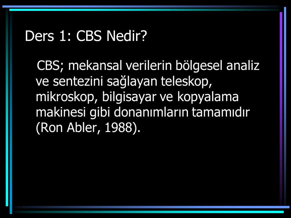 Ders 1: CBS Nedir