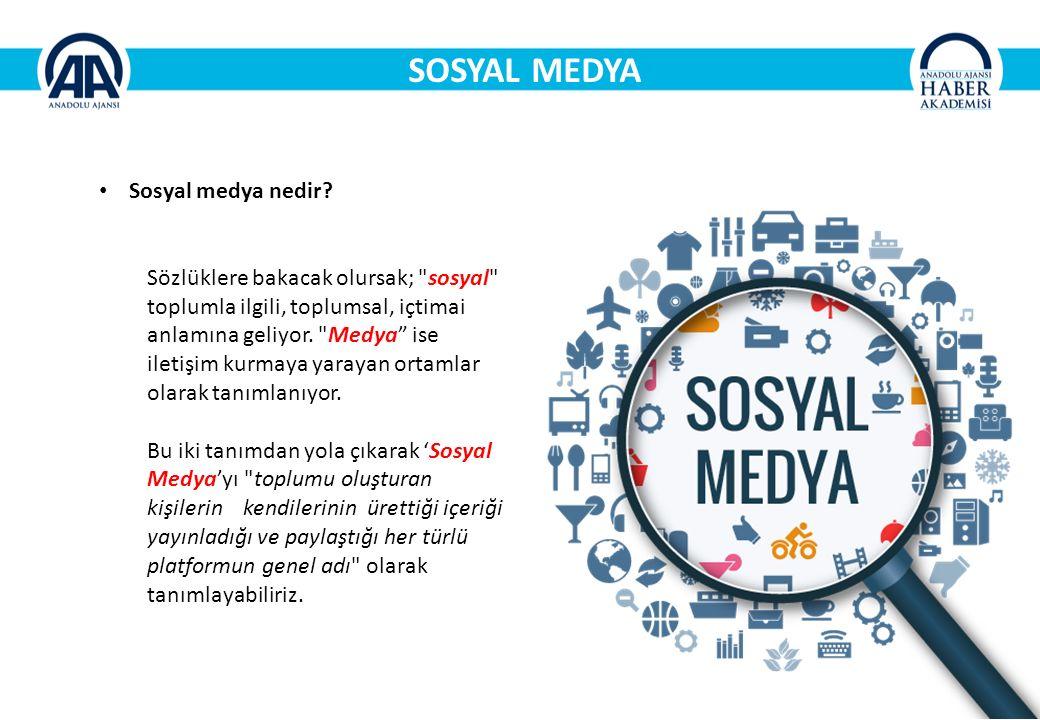 SOSYAL MEDYA Sosyal medya nedir