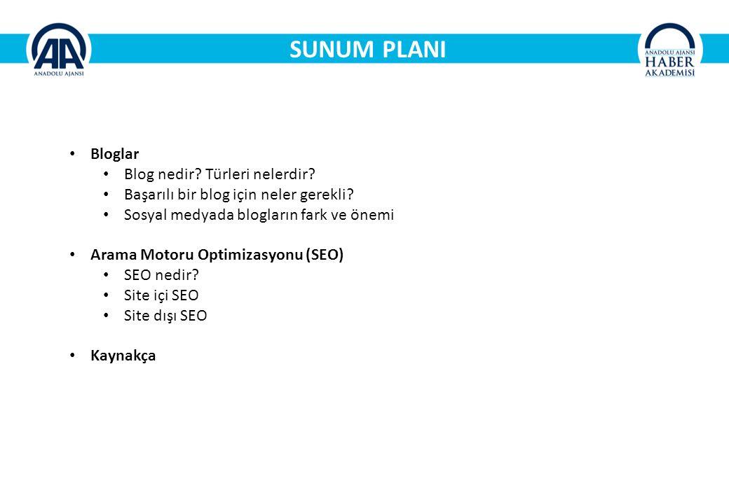 SUNUM PLANI Bloglar Blog nedir Türleri nelerdir