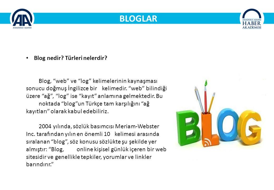 BLOGLAR Blog nedir Türleri nelerdir