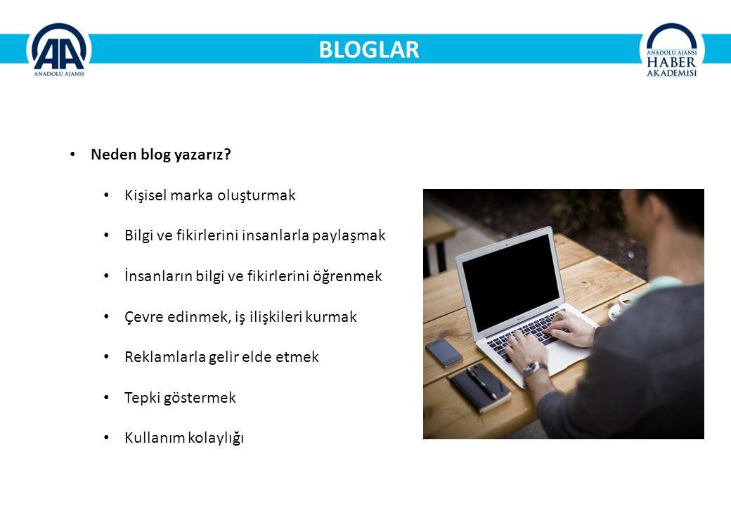 BLOGLAR Neden blog yazarız Kişisel marka oluşturmak