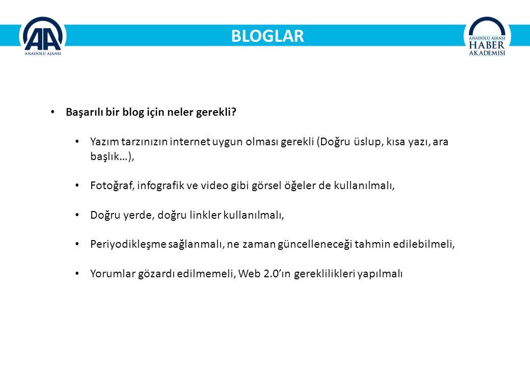BLOGLAR Başarılı bir blog için neler gerekli