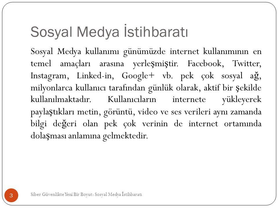 Sosyal Medya İstihbaratı