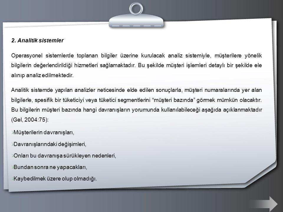 2. Analitik sistemler