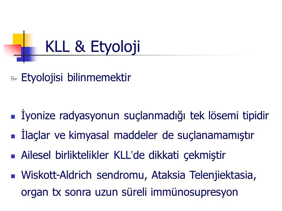 KLL & Etyoloji Etyolojisi bilinmemektir