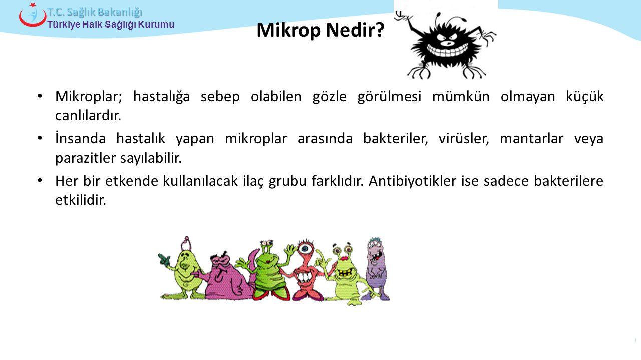 Mikrop Nedir Mikroplar; hastalığa sebep olabilen gözle görülmesi mümkün olmayan küçük canlılardır.