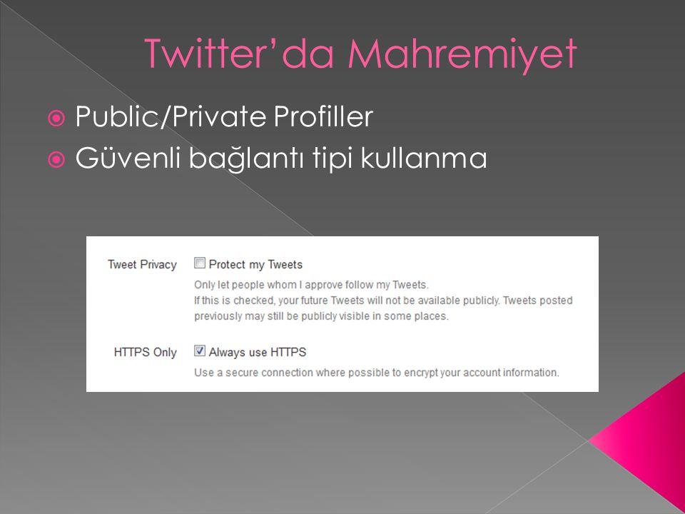 Twitter'da Mahremiyet
