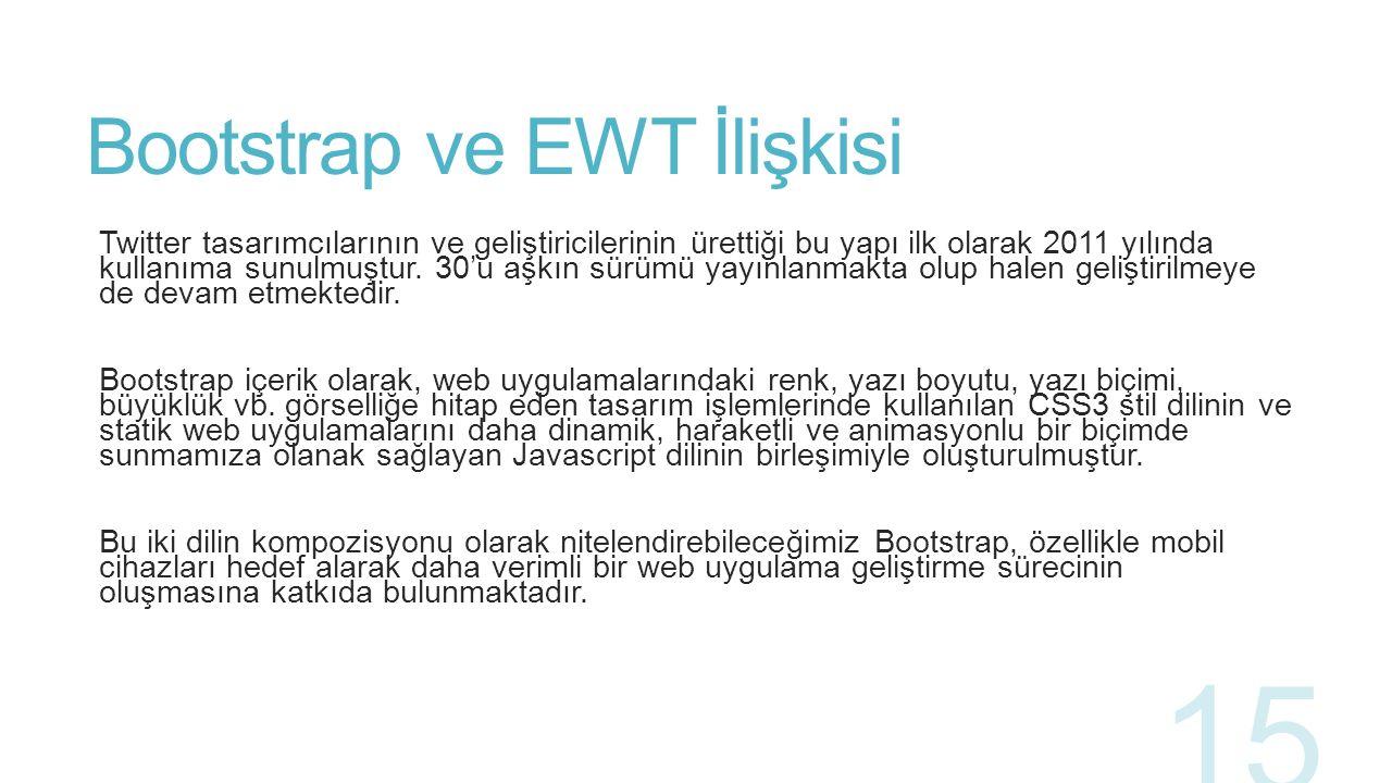Bootstrap ve EWT İlişkisi