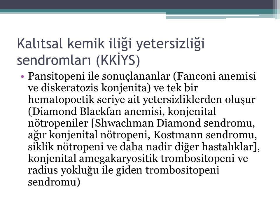Kalıtsal kemik iliği yetersizliği sendromları (KKİYS)