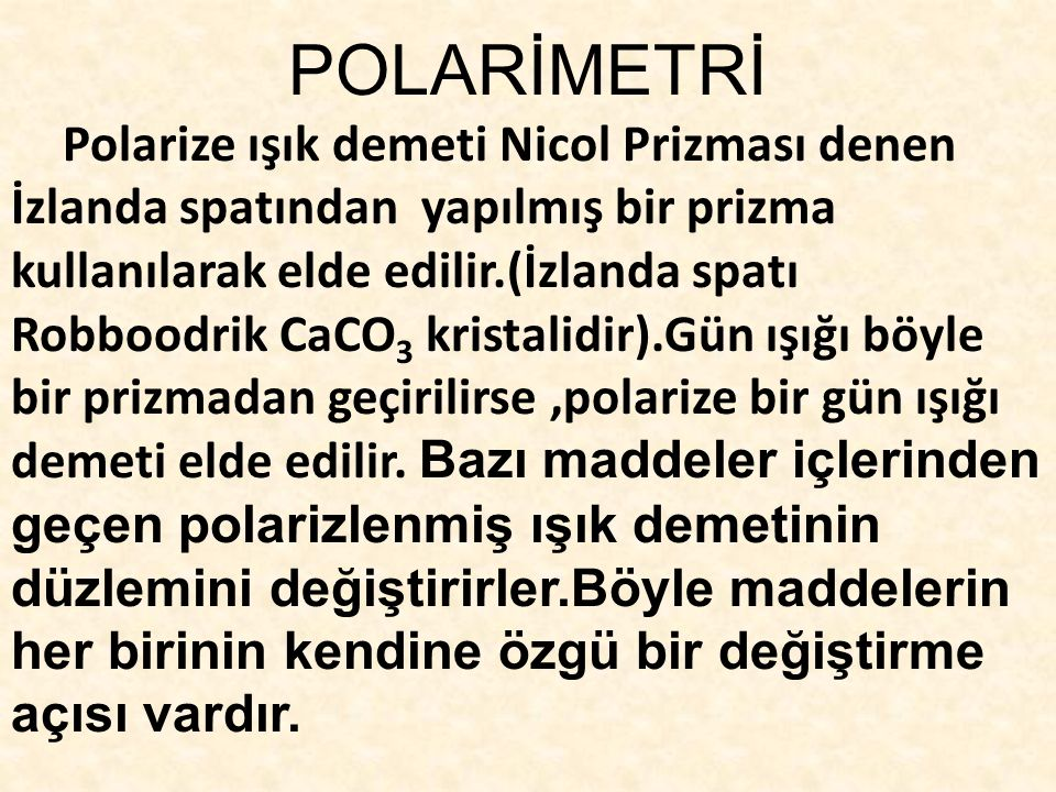 POLARİMETRİ