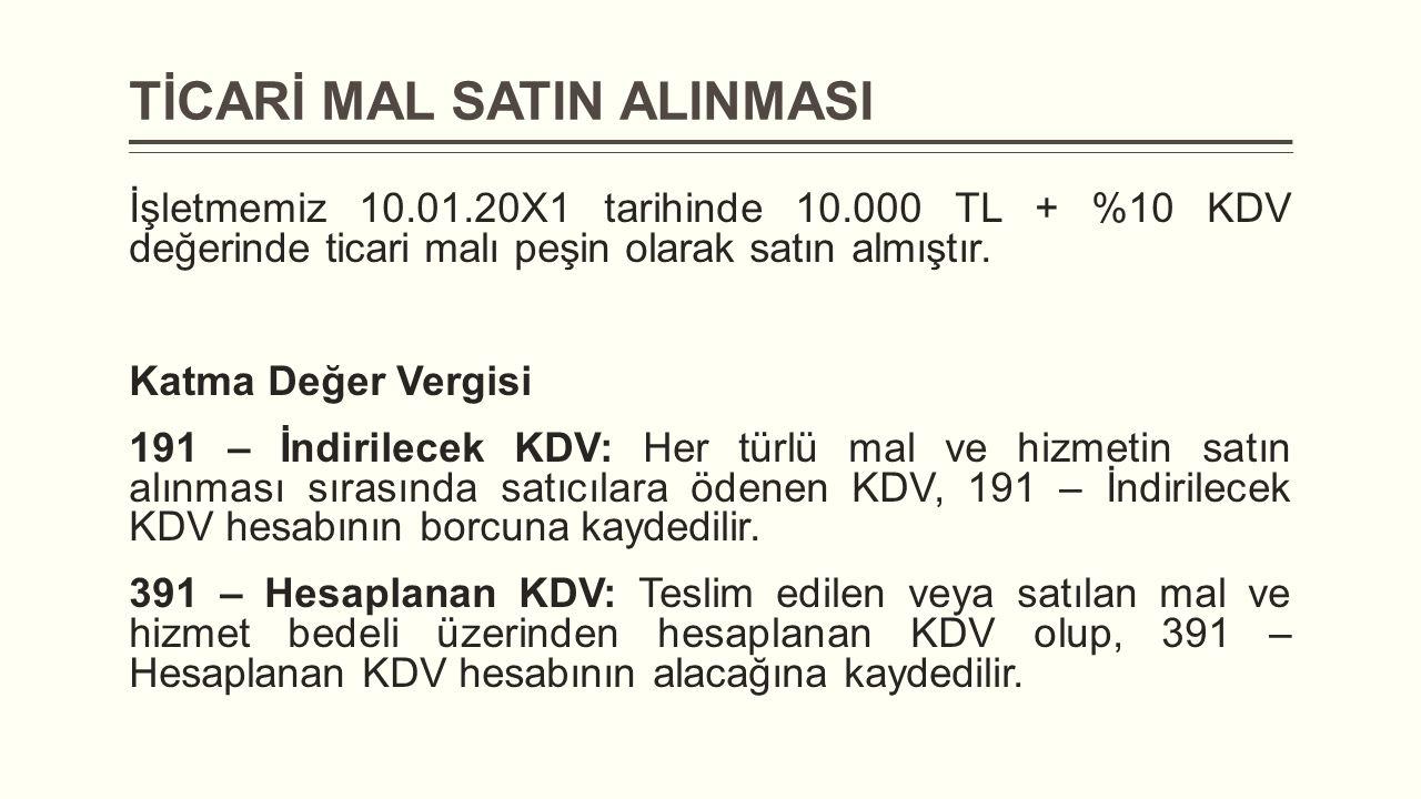 TİCARİ MAL SATIN ALINMASI