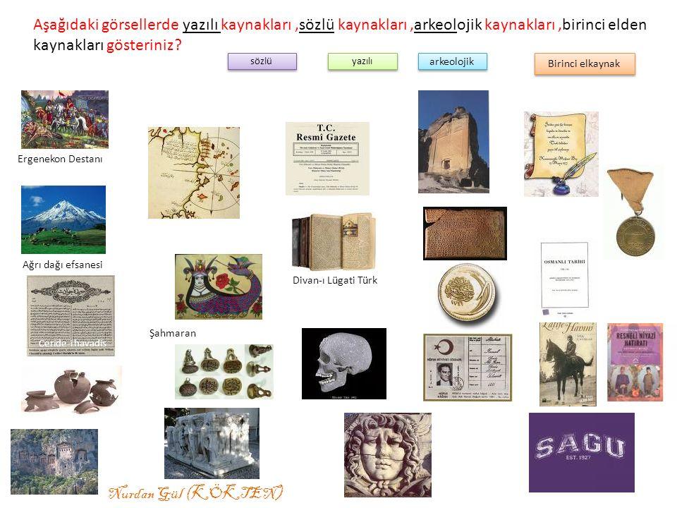 Aşağıdaki görsellerde yazılı kaynakları ,sözlü kaynakları ,arkeolojik kaynakları ,birinci elden kaynakları gösteriniz