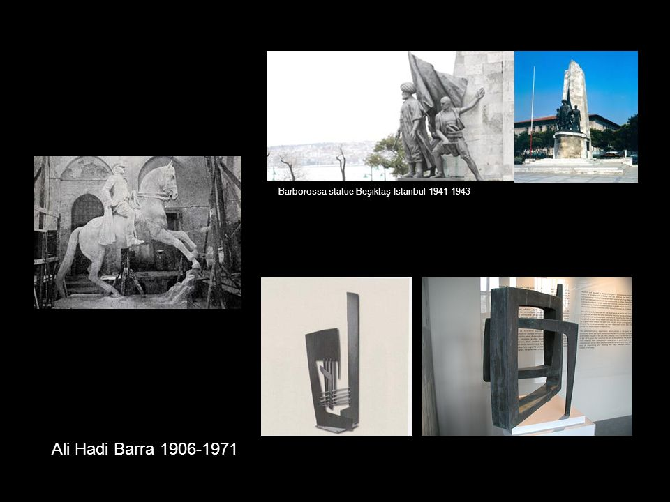 Barborossa statue Beşiktaş Istanbul 1941-1943