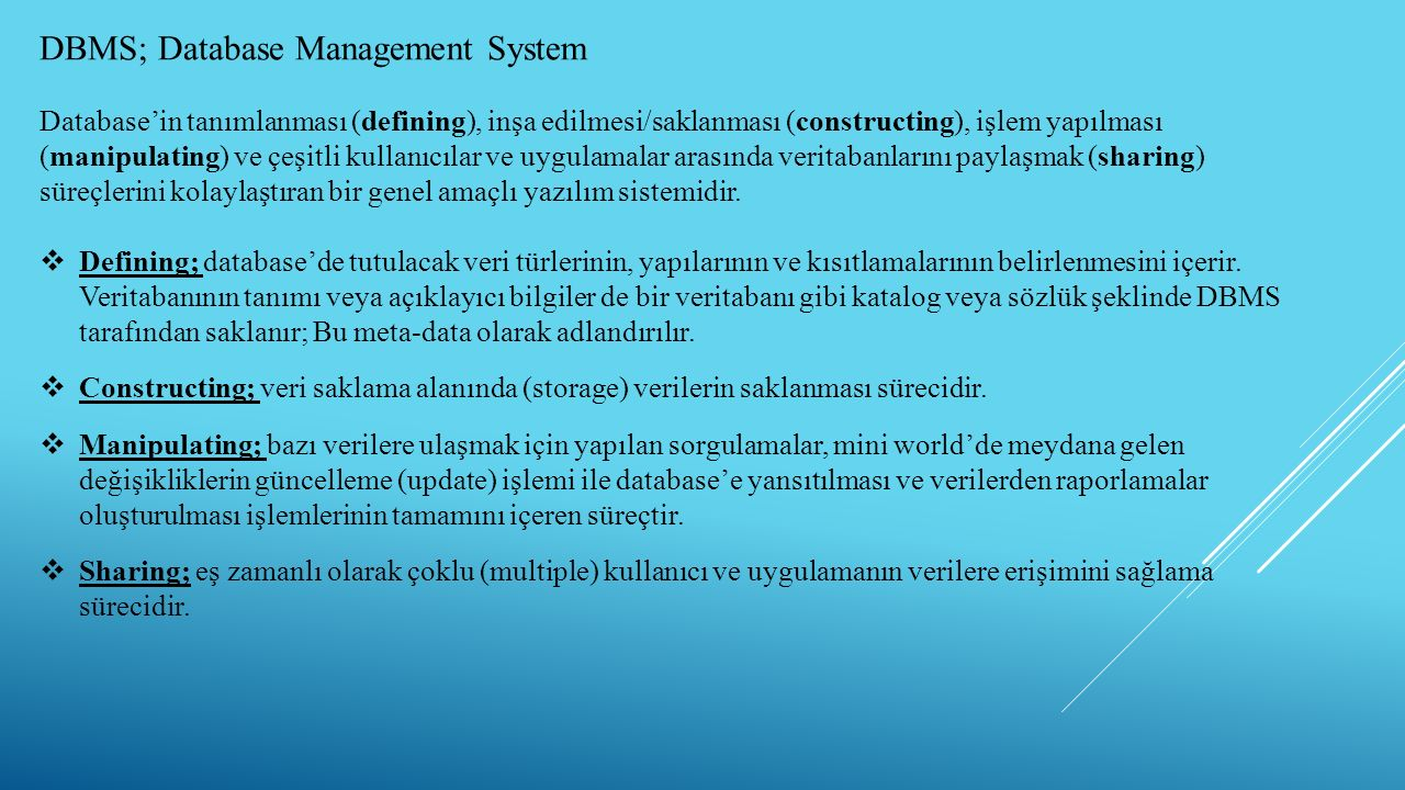 DBMS; Database Management System