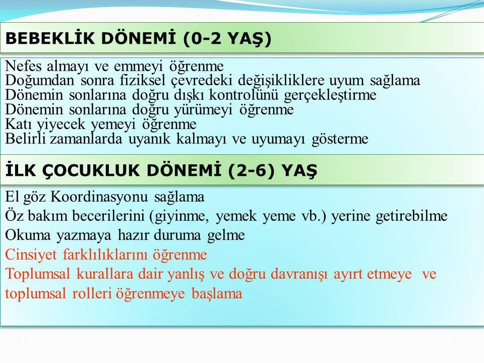 BEBEKLİK DÖNEMİ (0-2 YAŞ)