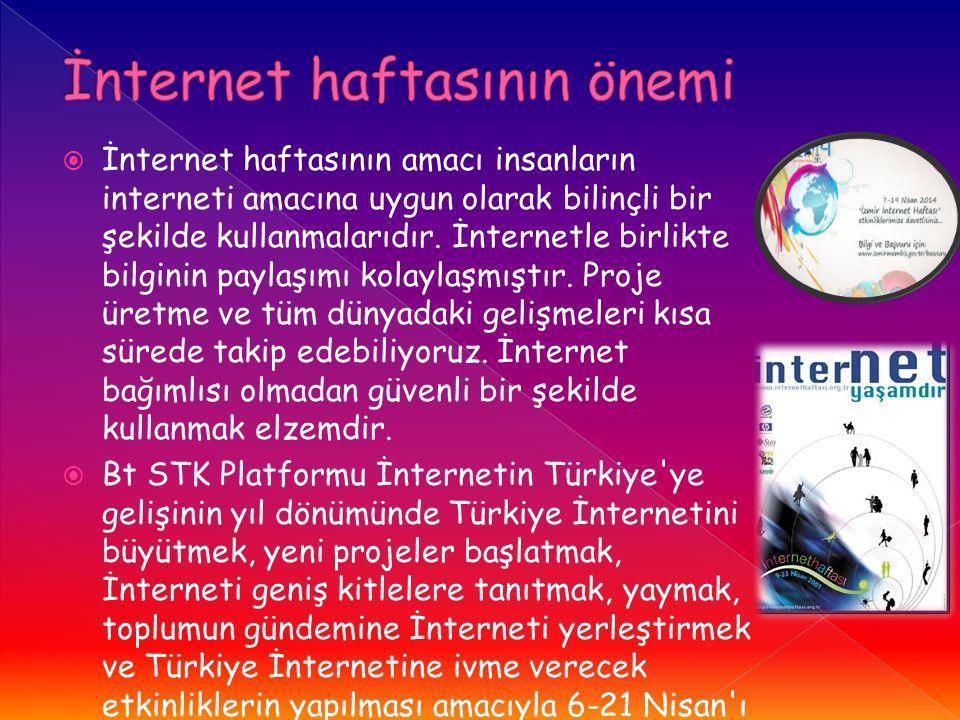 İnternet haftasının önemi