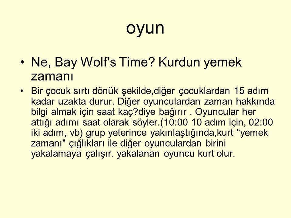 oyun Ne, Bay Wolf s Time Kurdun yemek zamanı