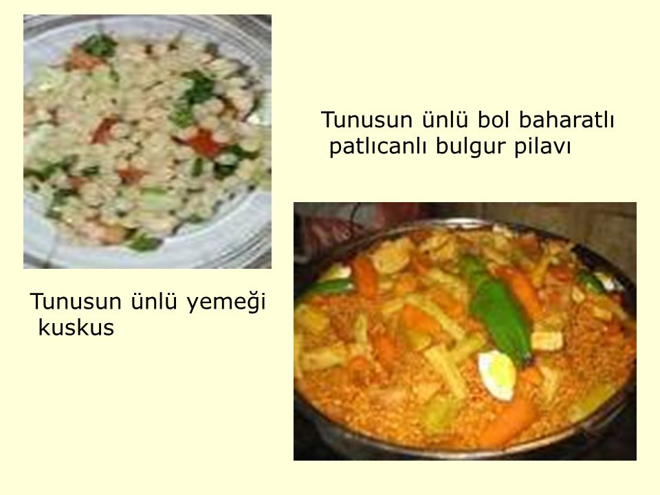 Tunusun ünlü bol baharatlı
