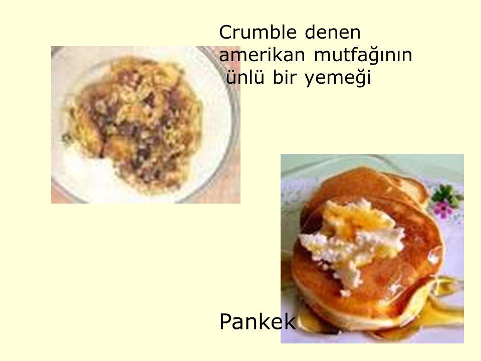 Crumble denen amerikan mutfağının