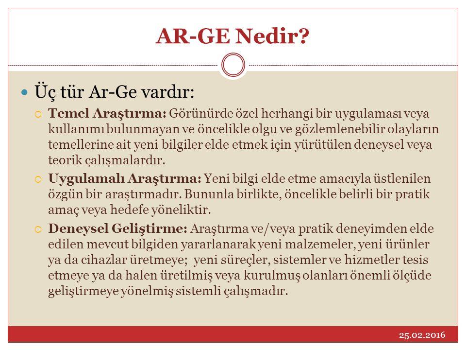 AR-GE Nedir Üç tür Ar-Ge vardır: