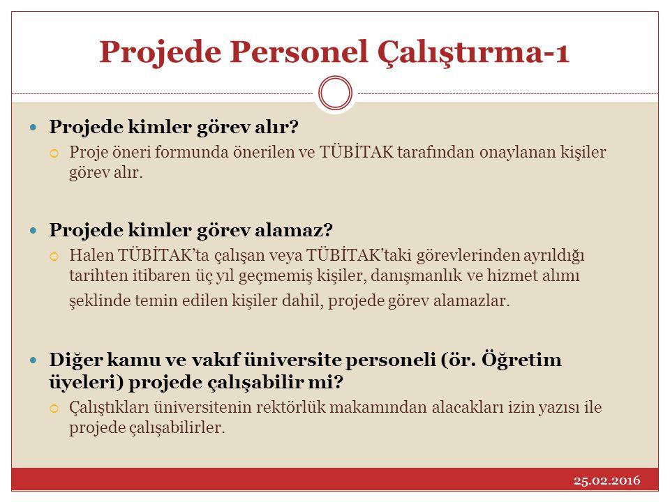 Projede Personel Çalıştırma-1
