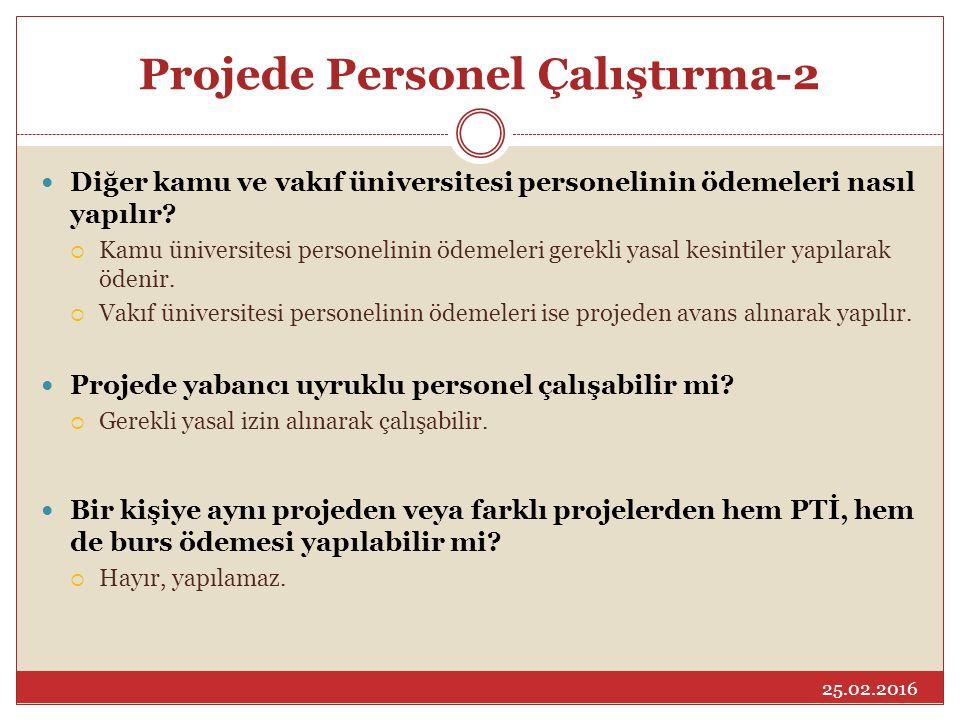 Projede Personel Çalıştırma-2