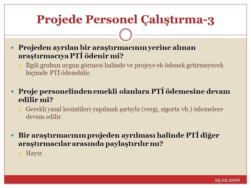 Projede Personel Çalıştırma-3