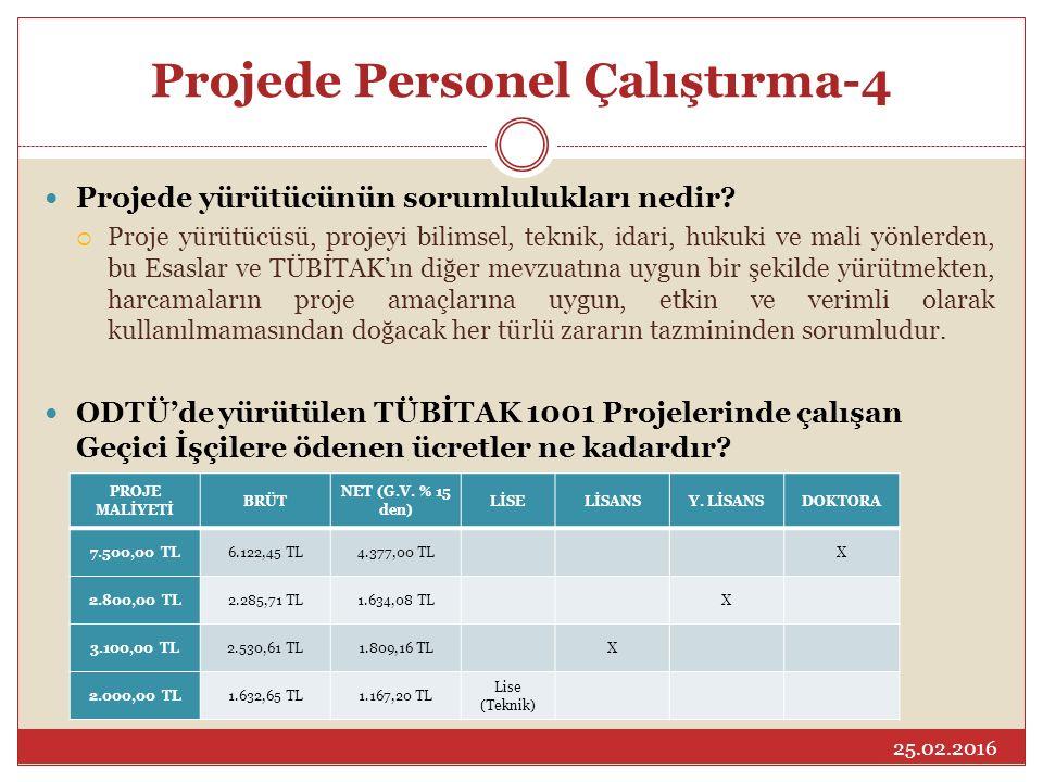 Projede Personel Çalıştırma-4