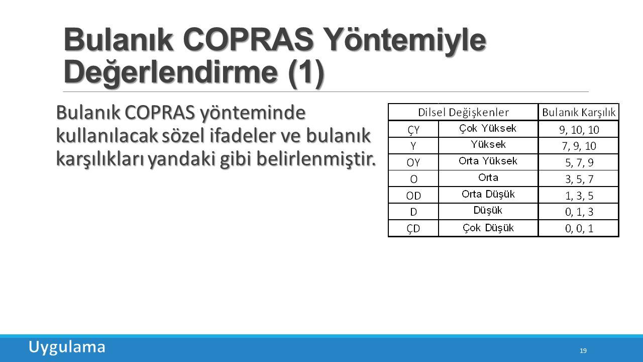 Bulanık COPRAS Yöntemiyle Değerlendirme (1)