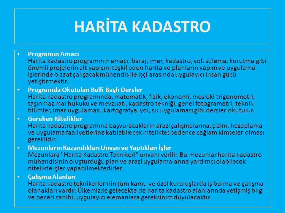 HARİTA KADASTRO