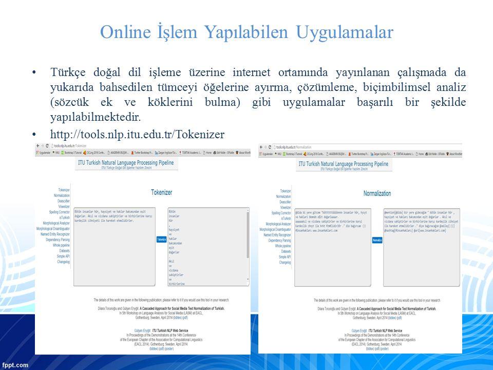 Online İşlem Yapılabilen Uygulamalar
