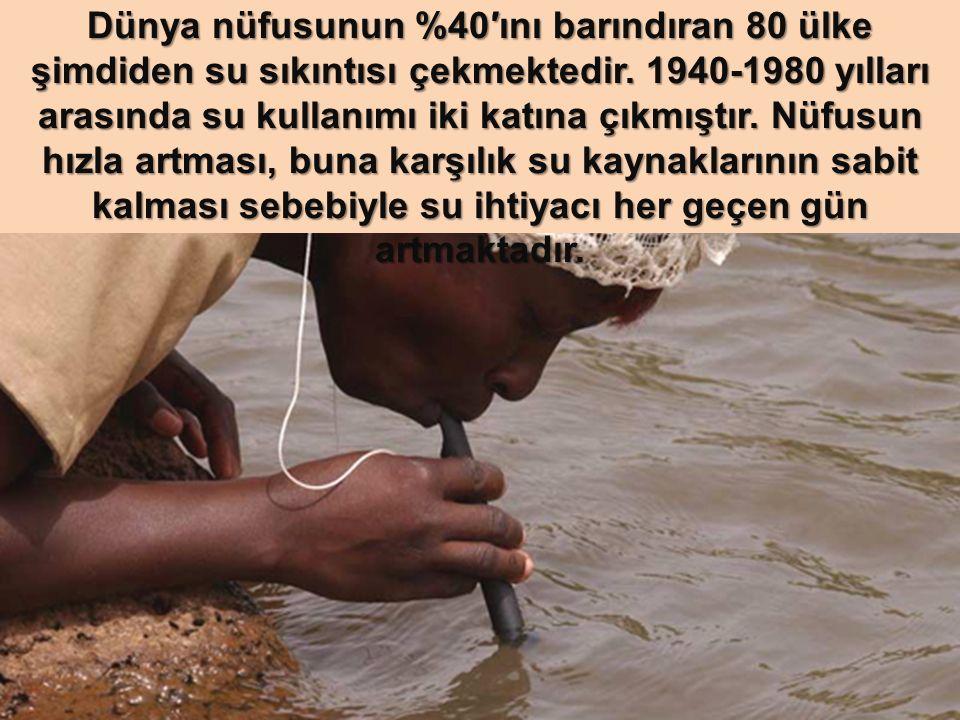 Dünya nüfusunun %40′ını barındıran 80 ülke şimdiden su sıkıntısı çekmektedir.