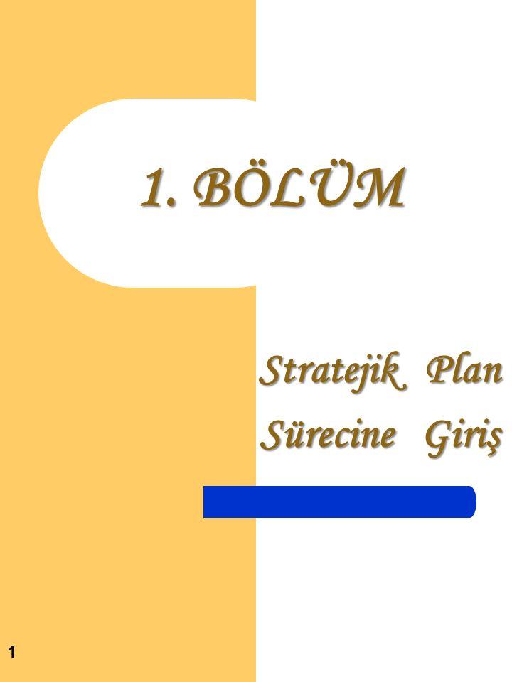 Stratejik Plan Sürecine Giriş