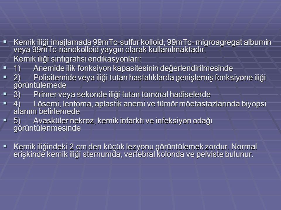 Kemik iliği sintigrafisi endikasyonları: