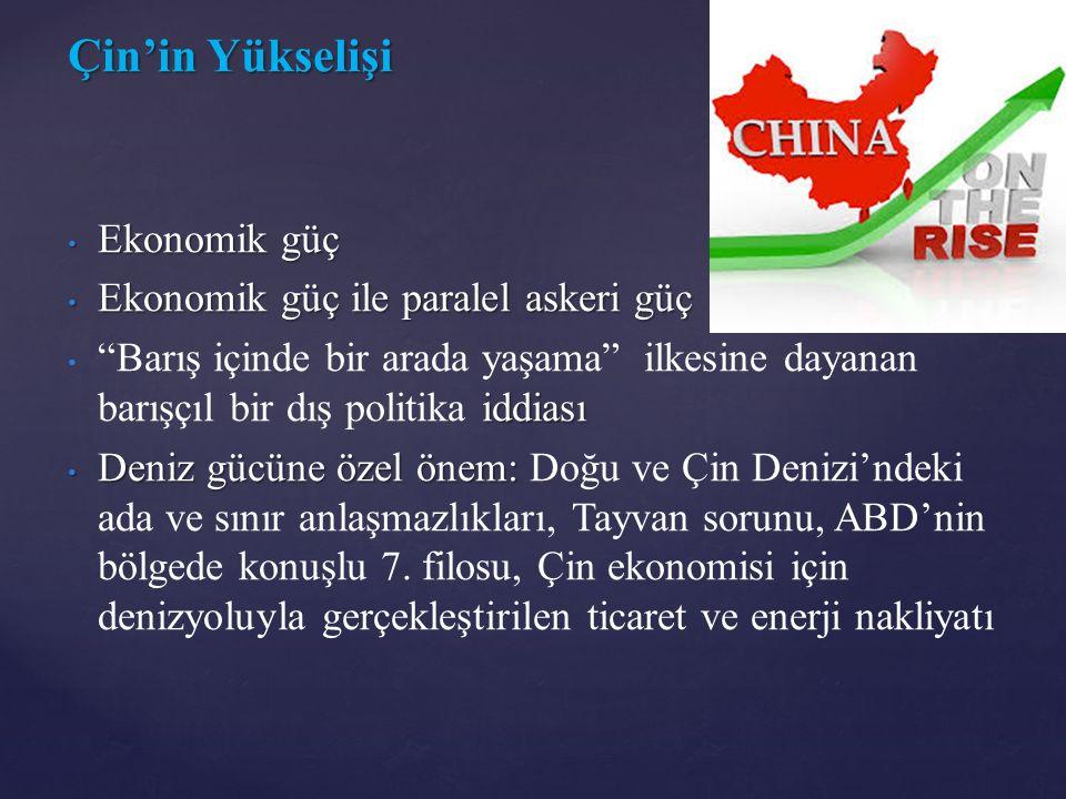 Çin'in Yükselişi Ekonomik güç Ekonomik güç ile paralel askeri güç