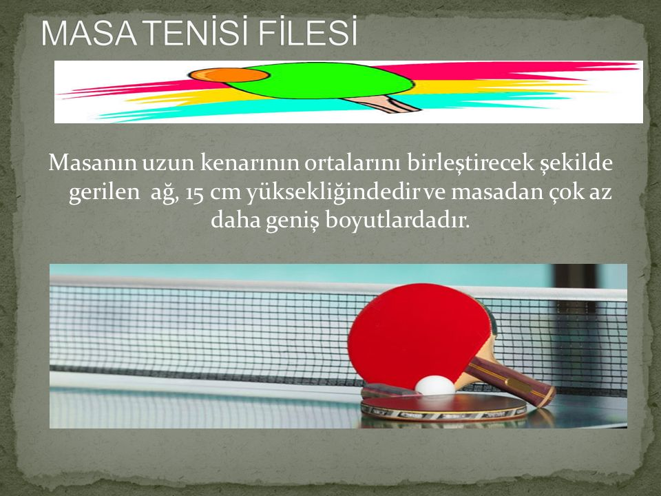 MASA TENİSİ FİLESİ
