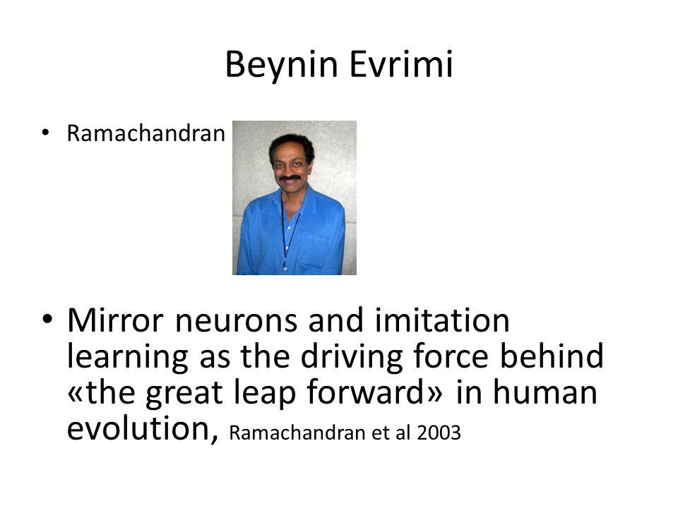 Beynin Evrimi Ramachandran.