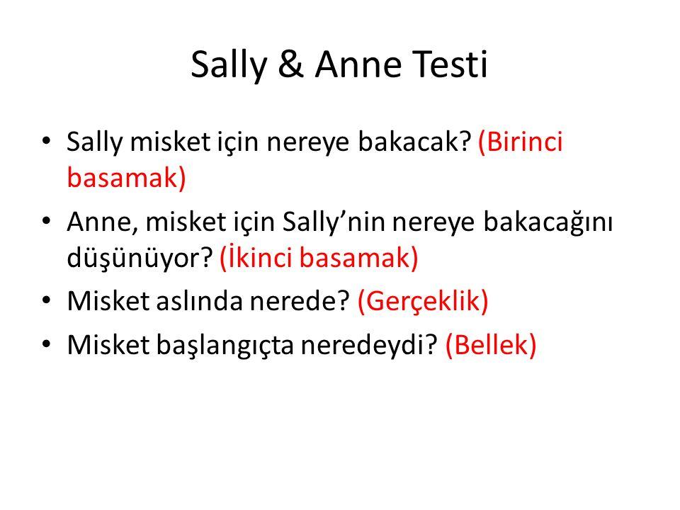 Sally & Anne Testi Sally misket için nereye bakacak (Birinci basamak)