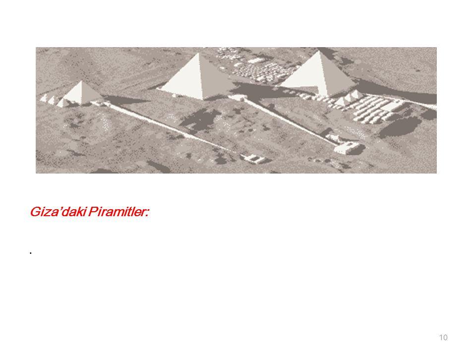 Giza'daki Piramitler: