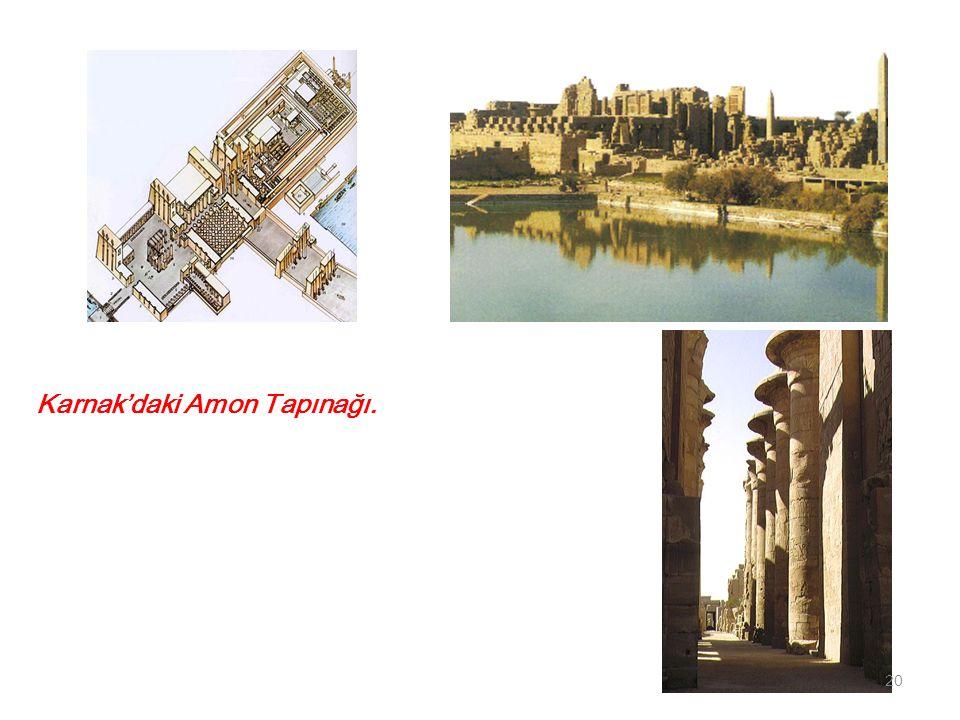 Karnak'daki Amon Tapınağı.