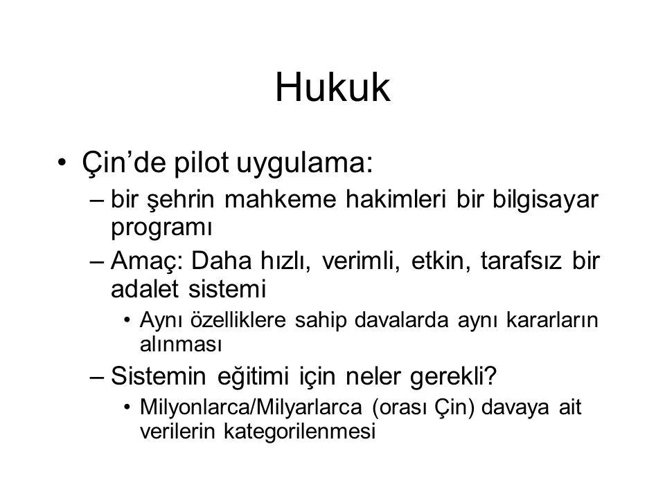 Hukuk Çin'de pilot uygulama: