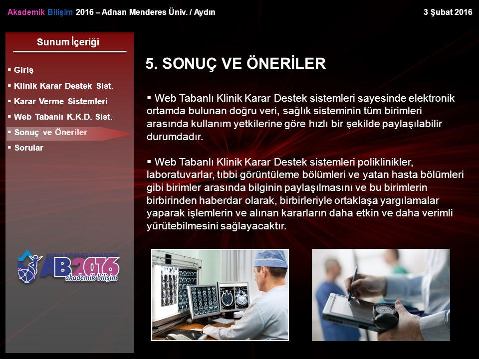 Akademik Bilişim 2016 – Adnan Menderes Üniv. / Aydın